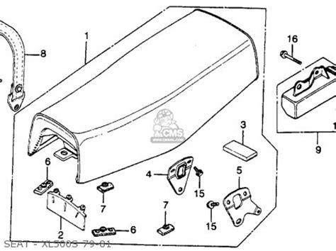 honda xl500s 1979 z usa parts list partsmanual partsfiche