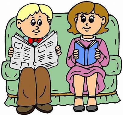 Newspaper Reading Clipart Clip Woman Person Cliparts