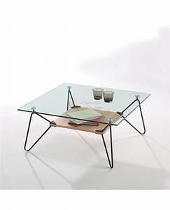 Table Basse Metal Verre : table basse verre et m tal maison ~ Mglfilm.com Idées de Décoration