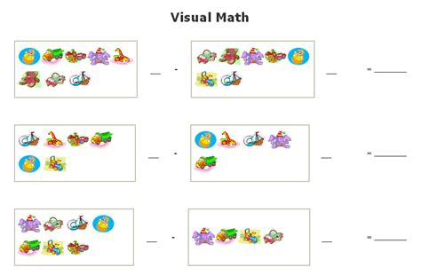 Visual Math Worksheets Free Worksheets Library  Download And Print Worksheets  Free On Comprar