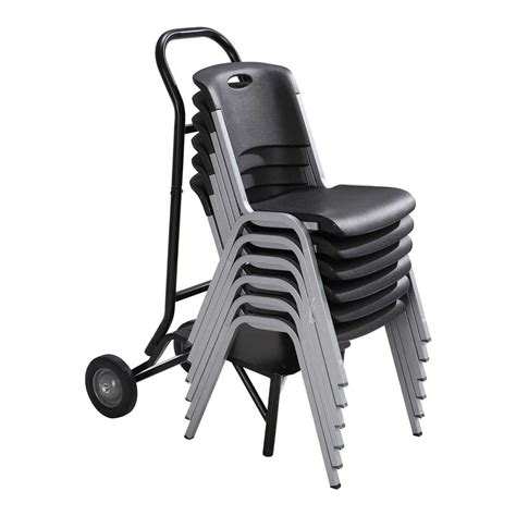 Lifetime Stacking Chair Cart by Lifetime 80525 Stacking Chair Wheel Storage Rack Cart Dolly