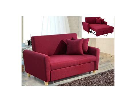 Divano Letto Rosso - divano letto 2 posti in tessuto rosso xavier