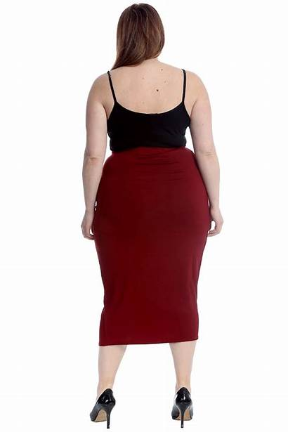 Pencil Skirt Skirts Bodycon Office Stretch Womens