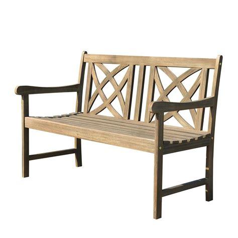 bench home depot vifah designer garden patio bench v188 the home depot