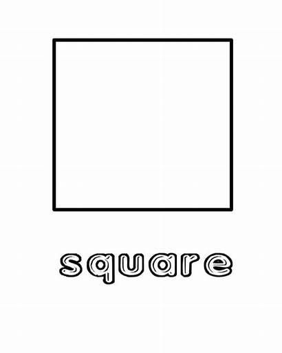Square Shape Pages Preschool Coloring Preschoolers Sheet