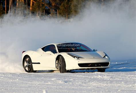 Mega rc drift car action!! Ferrari 458 Replacement Spied Drifting on Ice - autoevolution