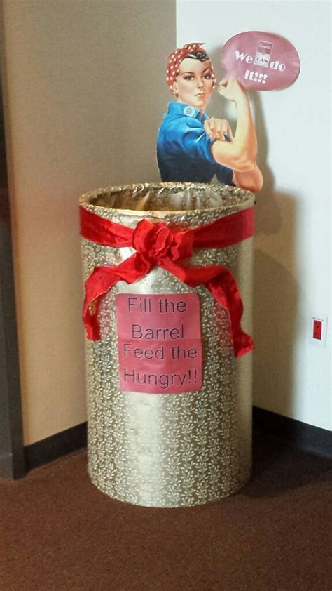 pin  michelle massaro  food drive collection barrel