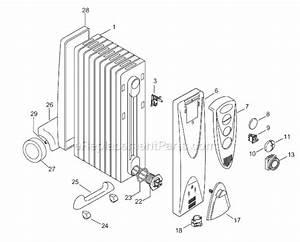 Delonghi Dr18t Parts List And Diagram   Ereplacementparts Com