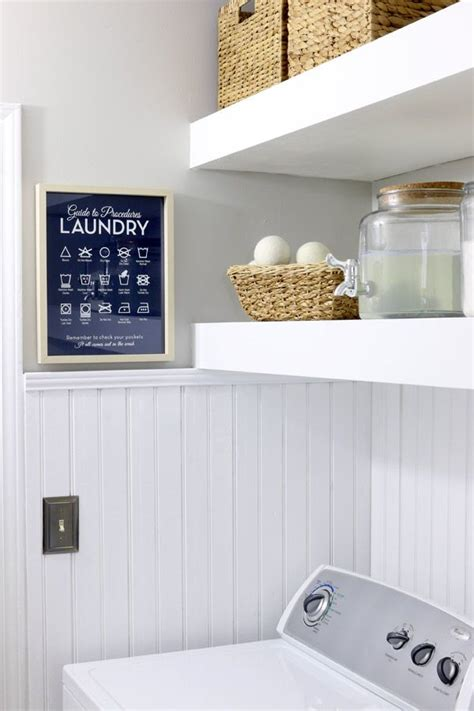 beadboard paneling transforms laundry room laundry rooms