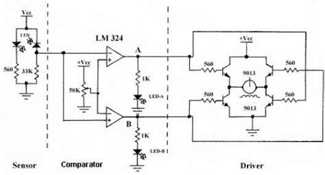 Analog Line Follower Robot Circuit Diagram World