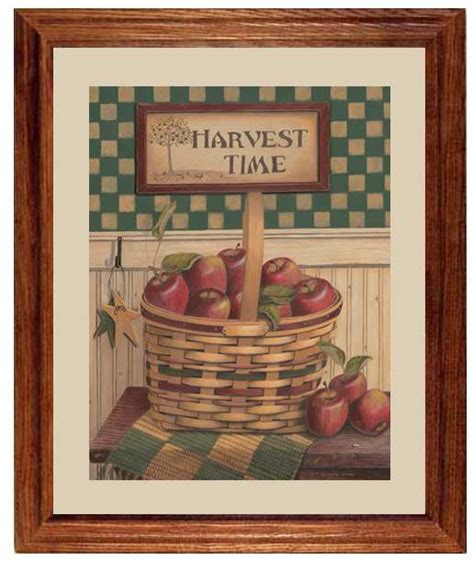 Harvest Time Apple By Linda Lane  Framed Art Print At