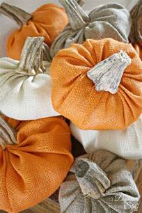 Fall Burlap Pumpkin Craft