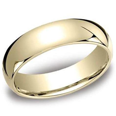 benchmark 10k yellow gold 6mm comfort fit plain mens wedding band