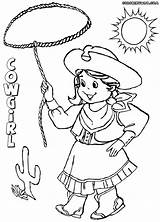 Cowgirl Coloring Colorings Coloringway sketch template