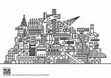 Coloring Pages Architecture Twisted Adults Futuristic Drawing Printable Living Adult Sheets Streets Info Sketch Template Nggallery Justcolor sketch template