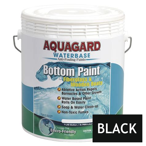 Non Toxic Boat Bottom Paint by Aquagard Waterbased Anti Fouling Bottom Paint 1gal Black