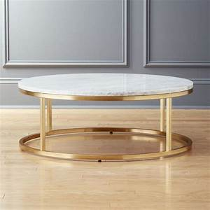 smart round marble brass coffee table reviews cb2 With gold rimmed coffee table