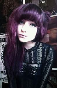 Dark purple hair | Hair Ideas | Pinterest