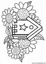 Birdhouse Coloring Pages Birdhouses Birds Bird Printable Houses Adults Plans Templates Getcolorings Projects sketch template