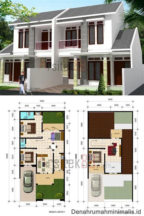contoh desain rumah lantai  rumah xy