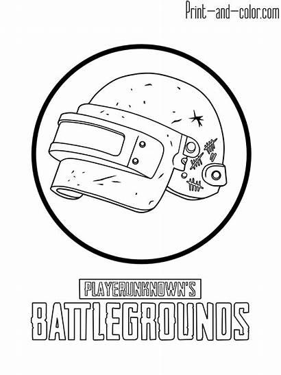 Coloring Pubg Pages Battlegrounds Destiny Playerunknown Helmet