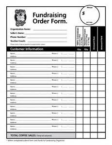 Blank Fundraiser Order Form Template