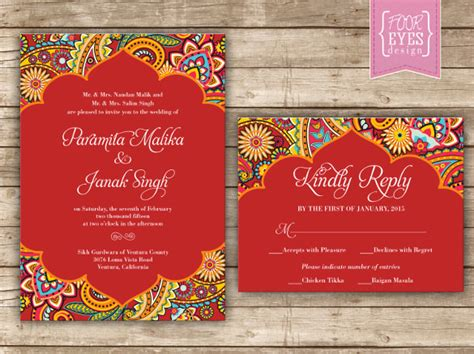 Free Indian Wedding Invitation Templates Erieairfair