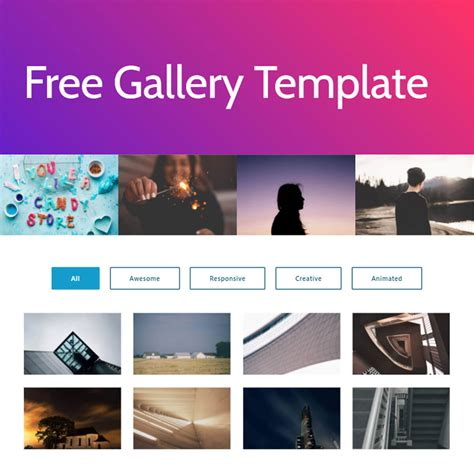html bootstrap photo gallery template
