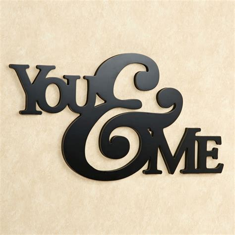 kitchen wall decals you and me word wall