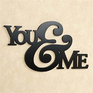 You and Me Word Wall Art