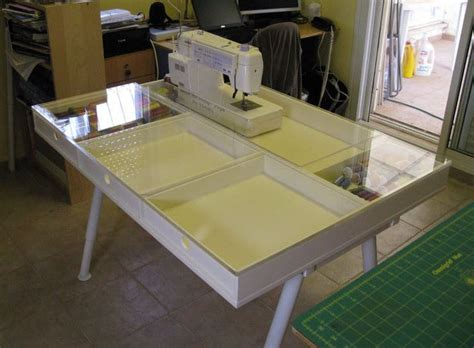 sewing machine tables for quilting custom built sewing table with plexiglas top sewing