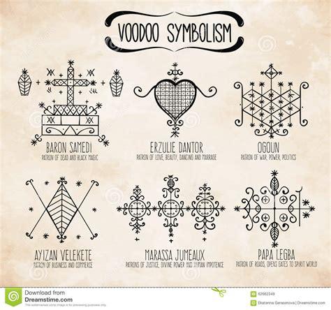 Wudu Bóstw Duchowi Symbole Ustawiaj�cy Ilustracja Wektor