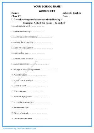 compound nouns worksheets foto kolekcija