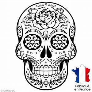 Tete De Mort Mexicaine Femme : transfert textile thermocollant 9 x 14 5 cm t te de ~ Melissatoandfro.com Idées de Décoration