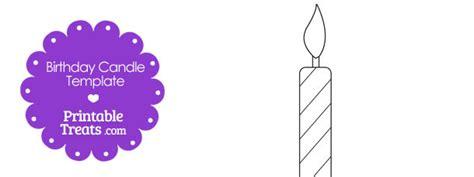 printable birthday candle shape template printable