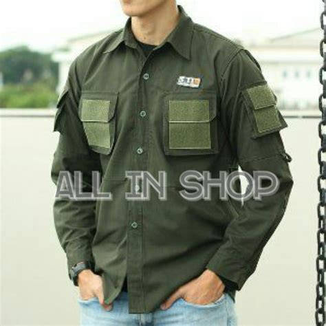 jual baju kemeja tactical kemeja outdoor kemeja lengan panjang kemeja pria di lapak allinshop