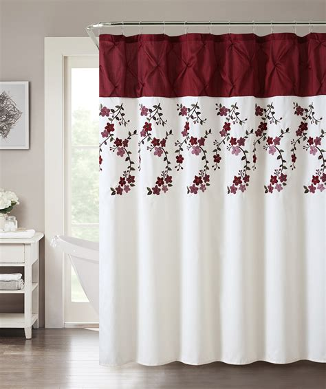 lydia shower curtain red home bed bath bath