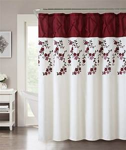 Red shower curtain usa for Red show curtains