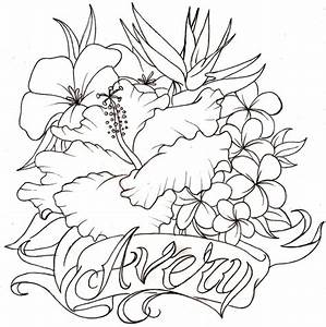 Pin Flower Drawings Hibiscus Tattoo Design Page 2 On ...