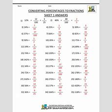 Convert Percent To Fraction