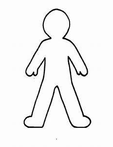 Cartoon people template printable person outline felt for Person template preschool