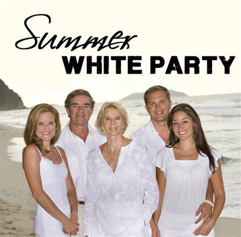 labor day white party invitations