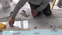 """how to tile 12""""x24"""" (30x60) marble tile installation using Perfect Level Master™ T-Lock™ - YouTube"""