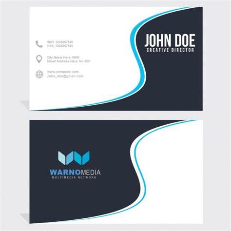 business card  blue wavy lines  images design