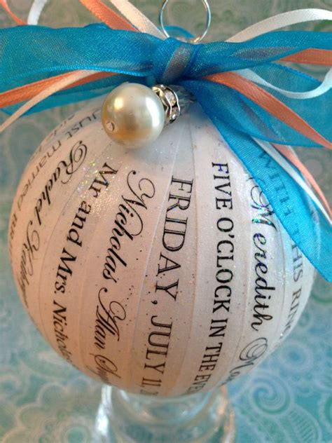 unique and personalized wedding ornament by