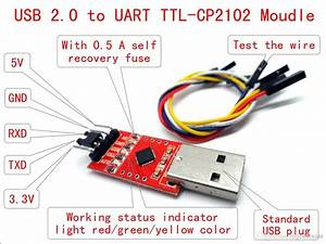 2017 Usb 2 0 To Uart Ttl 5pin Connector Module Serial