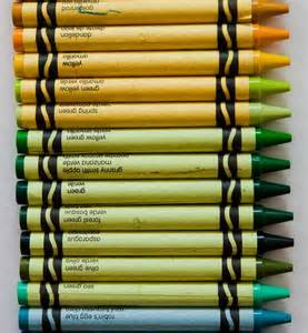 Green Crayola Crayon Colors