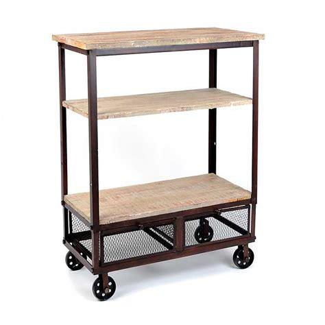 rustic kitchen islands and carts rustic 3 shelf rolling kitchen cart kirklands 7843