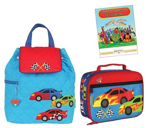 stephen joseph quilted backpack lunch box set toddler 618 | 897737989 o