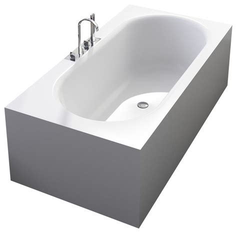 Stand Alone Bathtubs by Adm Matte White Stand Alone Resin Bathtub Modern